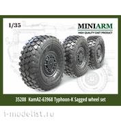 35208 Miniarm К@мАЗ-63968 Тайфун-К набор колес под нагрузкой  (6шт)