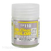 GX110 Gunze Sangyo Краска целлюлозная Mr.Hobby на растворителе, цвет Серебристый прозрачный, 18 мл.