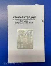 48001 Different Scales 1/48 Привязные ремни для истребителей Люфтваффе Второй Мировой Войны