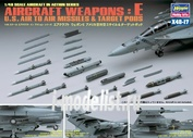 36117 Hasegawa 1/48 AIRCRAFT WEAPONS E : U.S. AIR-TO-AIR MISSILES & TARGET PODS