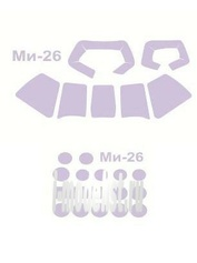 72217 KV Models 1/72 Набор окрасочных масок для остекления модели Мйль-26