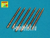 A32 108 Aber 1/32 Set of 6 turned U.S. cal .50 (12,7mm) Browning M2 barrels for P-51 Mustang