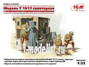 35662 ICM 1/35 Model T 1917 санитарная, с американским медицинским персоналом