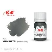 C1027 ICM Краска для творчества, 12 мл, цвет Оружейная сталь (Gun Metal)