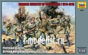 8082 Звезда 1/72 Русская пехота Первой мировой войны 1914-1918