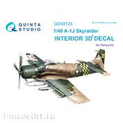 QD48124 Quinta Studio 1/48 3D Декаль интерьера кабины A-1J (для модели Tamiya)