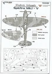 M72040 ColibriDecals 1/72 Mask for Spitfire Mk.I - V camouflage B