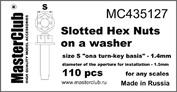 Mc435127 MasterClub Корончатая гайка с шайбой, размер под ключ - 1.4мм