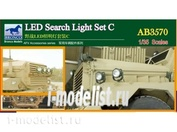 AB3570 Bronco 1/35 LED Search Light set C