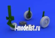 632076 Eduard 1/32 Дополнения для Mirage IIIc wheels