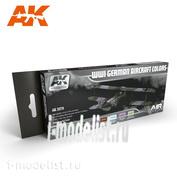 AK2270 AK Interactive WWI GERMAN AIRCRAFT COLORS SET (Немецкая авиация Первой Мировой)