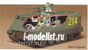 35040 Tamiya 1/35 Амер. Бтр M113 A.P.C.(Вьетнам) с внутр. интерьером , 5 фигур.