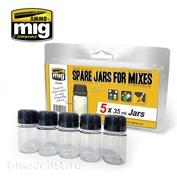 AMIG8033 Ammo Mig storage Jars (5 x 35 ml)
