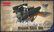 625 Roden 1/32 Двигатель Hispano Suiza 8Ab