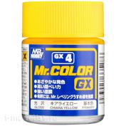 GX4 Gunze Sangyo Краска целлюлозная Mr.Hobby на растворителе, цвет Chiara Yellow глянцевый, 18 мл.