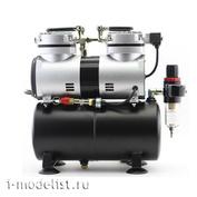 1206 JAS Специализированный компрессор для работы с аэрографом с ручной регулировкой давления на выходе.