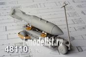 AMC48110 Advanced Modeling 1/48 Тележка с гидравлическим поъемником для подвески авиационных боеприпасов