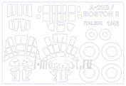 48039 KV Models 1/48 Набор окрасочных масок для Douglas A-20B / Boston II + wheels masks