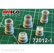 AMG72012-1 Amigo Models 1/72 MiGG-21PF/PFM/S/M/R Jet Nozzle engine R11F2-300