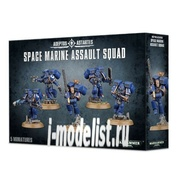 48-09 Warhammer 40.000 Набор из 5 фигур Space Marine Assault Squad (Штормовое Отделение Космодесанта)