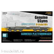 35A05-SVP Sabre Model 1/35 German Railway SCHWERER PLATTFORMWAGEN Genuine SSyms 6-Axle 80ton