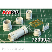 AMG72009-2 Amigo Models 1/72 MiG-23C, MiGG-23UM, MiGG-23UB Jet nozzle engine R-27F2M-300