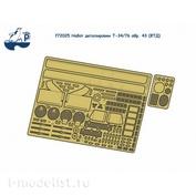 F72025 SG Modelling 1/72 Set detailing T-34/76 arr. 43 (FTD)
