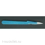 84124 Акан Скальпель с пластмассовой ручкой и лезвием № 36 (одноразовый)