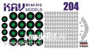 M144 015 KAV models 1/144 Окрасочная маска на Т.у.-204 (Звезда)