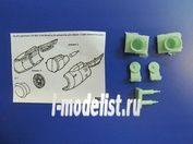 PAS-73702 PasModels 1/144 Набор элеметов ВНА+Лопатки+Выхлоп для Boing 737-800 (для двух двигателей) (смола)