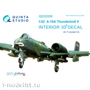 QD32008 Quinta Studio 1/32 3D Cabin Interior Decal A-10A (for Trumpeter Model)