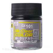 GX101 Gunze Sangyo Краска целлюлозная Mr.Hobby на растворителе, цвет Черный прозрачный, 18 мл.