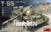 37018 MiniArt 1/35 Soviet t-55 1963 tank with interior