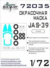 72035 SX-Art 1/72 Окрасочная маска JAS-39 Gripen (Italeri)
