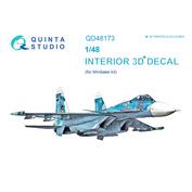 QD48173 Quinta Studio 1/48 3D Декаль интерьера кабины Суххой-33 (для модели Minibase)