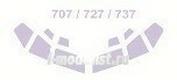14409 KV Models 1/144 Набор окрасочных масок для остекления модели Boing- 707/ 727/ 737 (по прототипу)