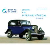 QD35006 Quinta Studio 1/35 3D Декаль интерьера кабины для Г@З-М1 (для модели Звезда)