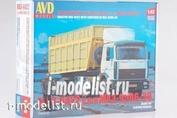 7040AVD AVD Models 1/43 MAZ-6422 with semi-trailer MAZ-9506-30
