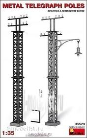 35529 MiniArt 1/35 Metal Telegraph poles