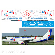 320-37 PasDecals 1/144 Scales the Decal on the model a-321 (star) Ural Airlines