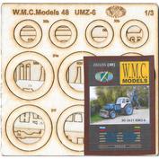 WMC-48-2L W.M.C. Models 1/3 «ЭО-2621» («ЮМЗ-6») - набор вырезанных лазером деталей