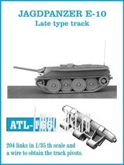 ATL-35-166 Friulmodel 1/35 Траки железные для JAGDPANZER E-10 Late type track