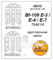 48010 KV Models 1/48 Mask for Bf-109E-4/7 Trop (double-sided mask)