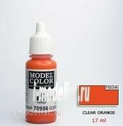 70956 Vallejo Краска акриловая `Model Color` Прозрачная оранжевая / Clear Orange