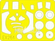 EX251 Eduard 1/48 Маска для Canberra B(I)8