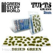 2337 Green Stuff World Самоклеящихся пучки травы, 2 мм - сухой зелёный / Grass TUFTS - 2mm self-adhesive - DRY GREEN