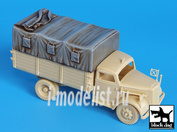 T72019 Black dog 1/72 Canvas for Opel Blitz  for Academy