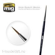 AMIG8602 Ammo Mig Круглая кисть 1 PREMIUM  MARTA KOLINSKY