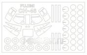 72246 KV Models 1/72 Набор окрасочных масок для CH-46 / HH-46 / KV-107  Sea Knight  + маски на диски и колеса