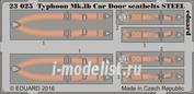 23025 Eduard 1/24 Фототравление для Typhoon Mk. Ib Car Door ремни СТАЛЬ